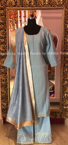 Blissful Blue Plazzo Dress Set