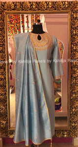 Designer Rich Neckline Worked Blue Salwar Suit