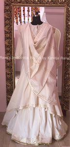 Exotic Asymmetric Kurta and Flared Plazzo Dress Set
