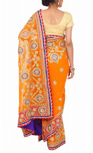 ranas-by-kshitija-tangy-orange-gota-work-saree