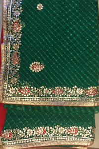 ranas-by-kshitija-gorgeous-green-leheriya-saree-in-fine-gota-work