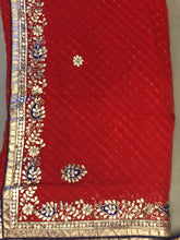 ranas-by-kshitija-delciate-red-leheriya-saree-in-fine-gota-work
