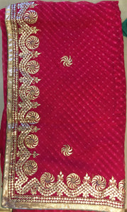 ranas-by-kshitija-zero-gota-patti-worked-leheriya-saree