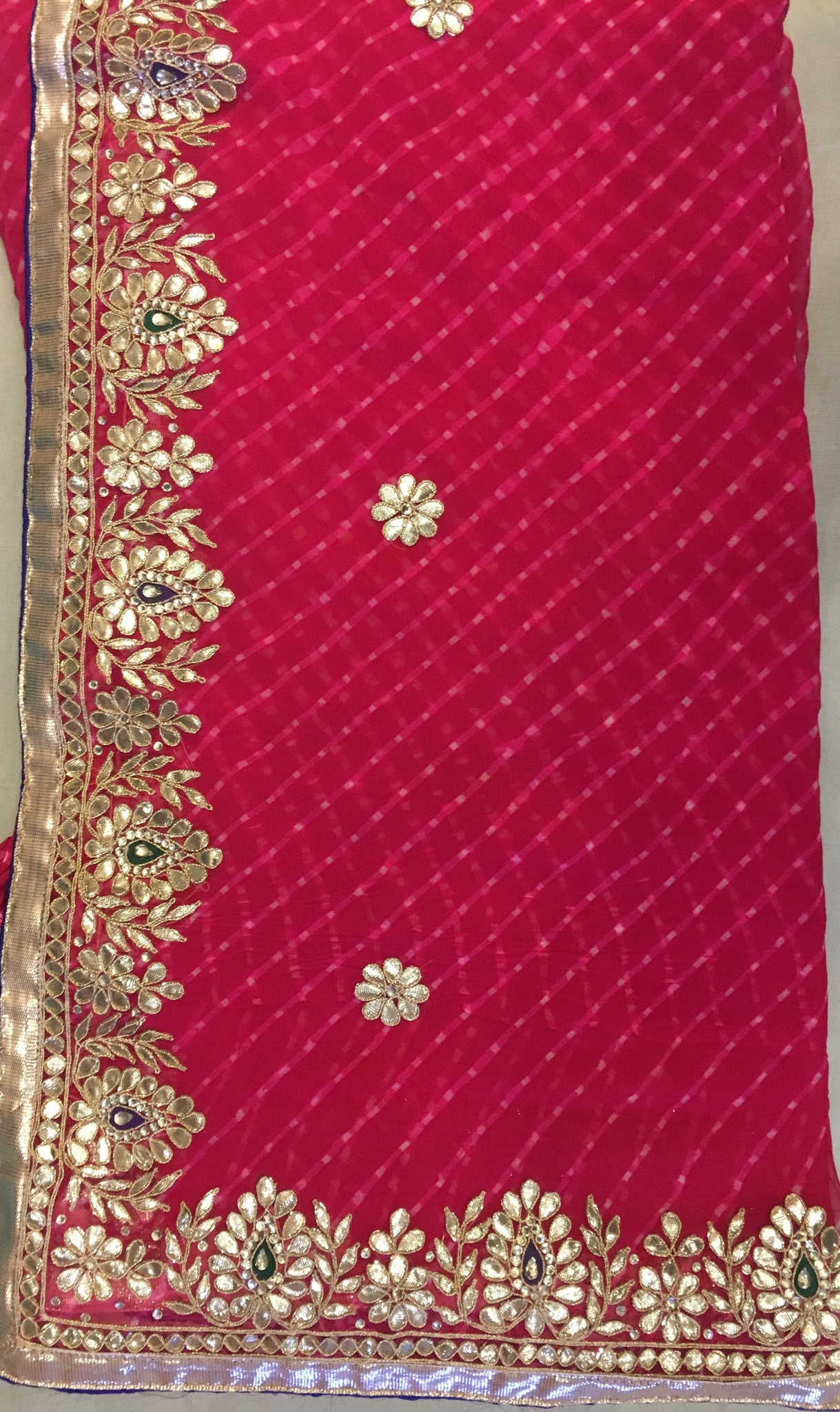 ranas-by-kshitija-stylish-gota-design-leheriya-saree