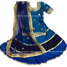 Kids Layered Lehenga with Gota Work - Rana's by Kshitija