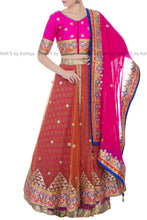 Designer Double Layered Lehenga in Gota Work