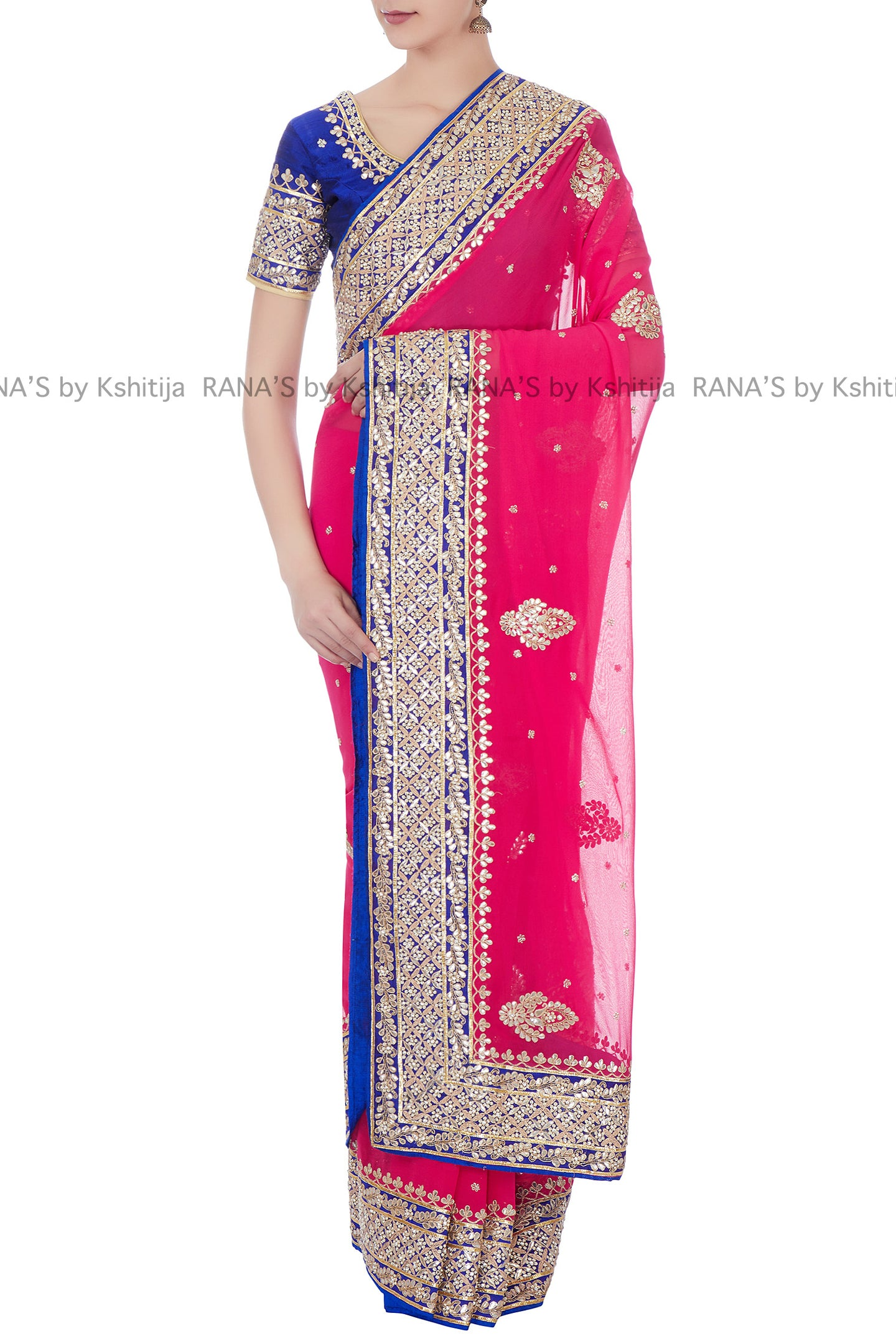 Radiant Red Fine Dori Gota Work Saree