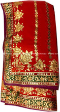 Designer Lotus Saree with Handcut Gota Patti Work