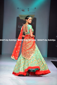 ranas-by-kshitija-mint-green-and-radiant-red-exquiste-lehenga