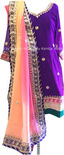 Ombre Dupatta with Pretty Purple Salwar Suit