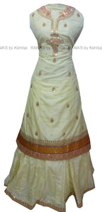 Pale Yellow Kurti Skirt Dress Set