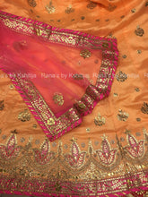Peachy Orange Gota Patti Lehenga Set