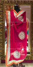 Bright and Peppy Beautiful Ghevar Design Dupatta