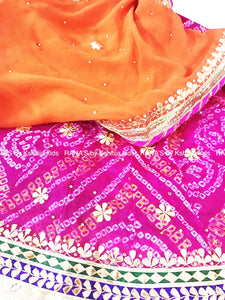 ranas-by-kshitija-pink-orange-gota-patti-kids-lehenga