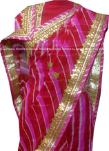 Beautiful Combination of Pink Leheriya Saree