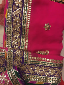 ranas-by-kshitija-pink-and-red-bright-pure-georgette-saree