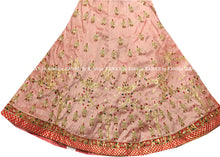 Pink and Pista Green Ribbon Gota Worked Lehenga Set
