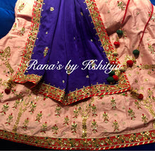Pink and Purple Ribbon Gota Worked Lehenga Set