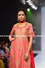 Pleasing peach and red salwar suit - Rana's by Kshitija