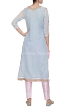 Powder Blue Zardozi Salwar Suit