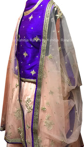 Pretty Peach Lehenga in Zarozi Work