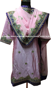 Pretty Pink Salwar Suit in Gota Kundan Work - Rana's by Kshitija