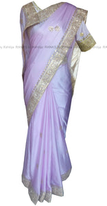 Pretty Satin Georgette Designer Saree