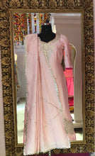 Pure Chanderi Silk Salwar Suit Set in Pink