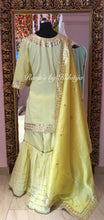 Pure Chanderi Silk Garara Suit Set in Fine Gota Patti Work - Rana's by Kshitija