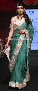 Pure Chinnon Chiffon Saree with Gota Handwork