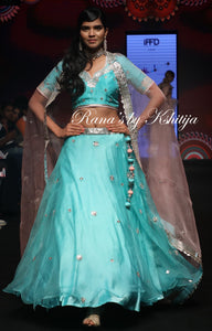 Pure Organza and Pure Silk Lehenga Set - Rana's by Kshitija