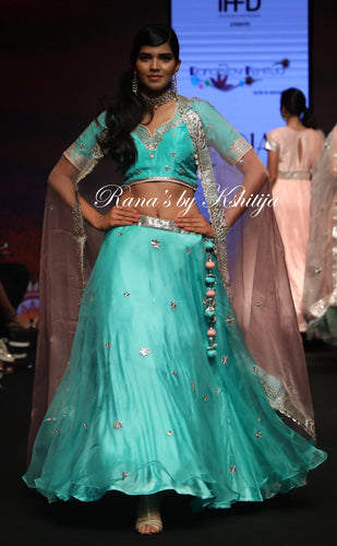 Pure Organza and Pure Silk Lehenga Set