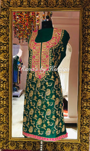 Pure Raw Silk Suit Set with Fine Jaal Design