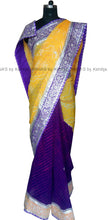 ranas-by-kshitija-purple-and-yellow-half-half-leheriya-bandhej-saree