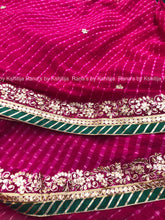 Rani Leheriya Saree in Delicate Design