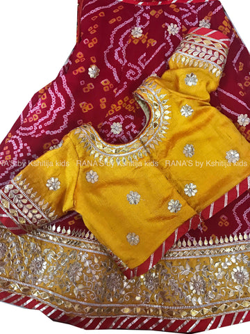 ranas-by-kshitija-red-yellow-gota-patti-kids-lehenga
