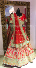 Regal Red Bridal Lehenga Set - Rana's by Kshitija
