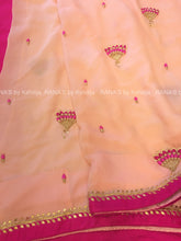 ranas-by-kshitija-ribbon-worked-pretty-peach-chiffon-saree