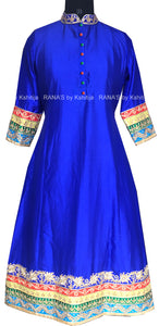 ranas-by-kshitija-rich-blue-kurti-in-pure-silk