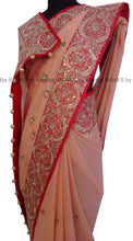 ranas-by-kshitija-rich-peach-zardozi-tikki-saree
