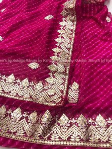 Rich Rani Leheriya Saree in Delicate Design