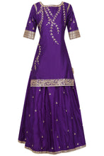 Pretty Purple Skirt Dress Set in Gota Work - Rana's by Kshitija
