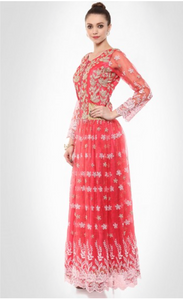 Pinkish Peach Pretty Floor Length Dress - Rana's by Kshitija