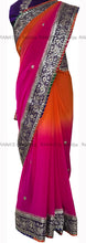 Shaded beautiful fine Gota work handwork saree - Rana's by Kshitija