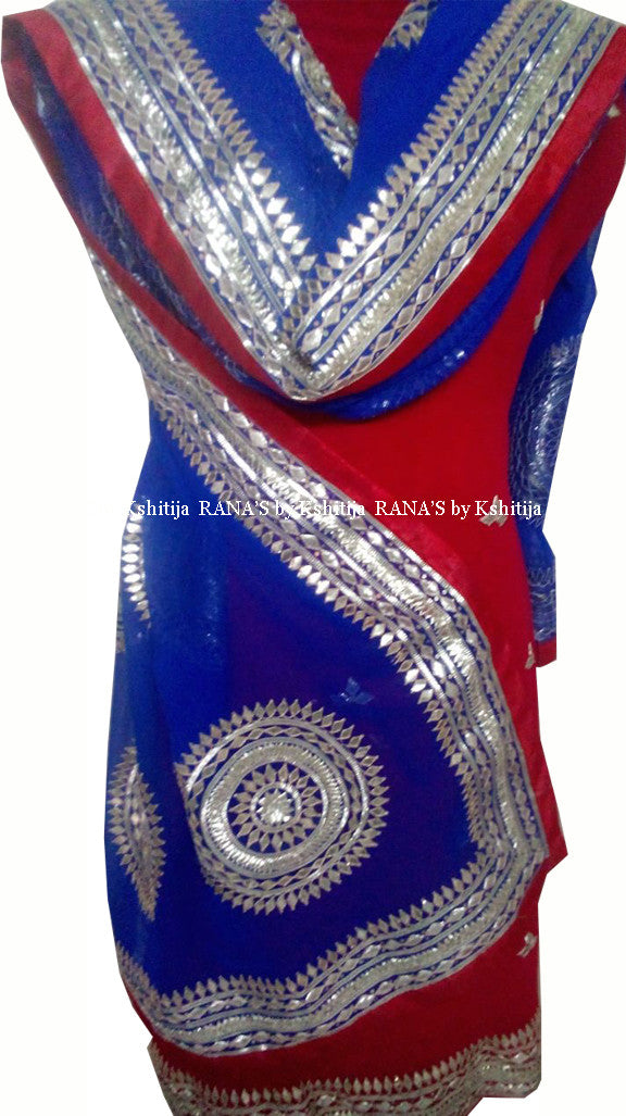 ranas-by-kshitija-spherical-gota-designer-red-blue-salwar-suit