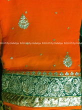ranas-by-kshitija-tangy-orange-fine-gota-work-saree