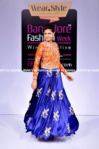 ranas-by-kshitija-tangy-orange-with-contrast-blue-floor-length-dress