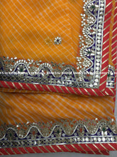 Vibrant Yellow Gota Work Leheriya Saree - Rana's by Kshitija