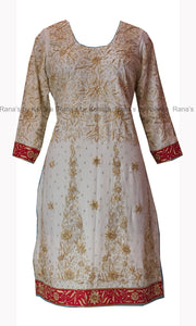 White n Red Rich Zardozi Salwar Suit