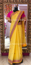 Yellow Marodi Handworked Designer Saree